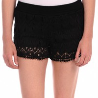 Vintage Havana Crochet Shorts - Black