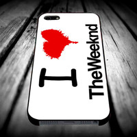 I Heart The Weeknd WhiteiPhone 4/4s/5/5s/5c/6/6 Plus Case, Samsung Galaxy S3/S4/S5/Note 3/4 Case, iPod 4/5 Case, HtC One M7 M8 and Nexus Case **
