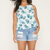Plus Size Leaf Print Top | Forever 21 PLUS - 2000152892