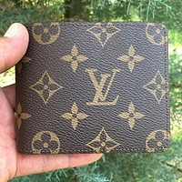 Louis Vuitton LV Classic Square Flip Wallet Fashion Men's and Women's Coin Purses Card Holder