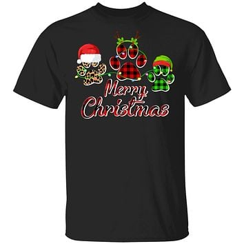 Paw Dogs Merry Christmas Dog Lovers Red Buffalo