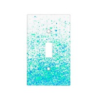 sparkly mint light switch cover