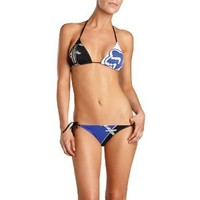 Fox Racing Solitaire String Triangle Women's Top Bathing Suit Swimwear - Black / X-Small
