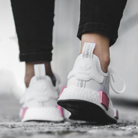 """Adidas"" NMD Fashion Sneakers Trending Running Sports Shoes White-pink G"