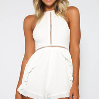 Riley Playsuit - White