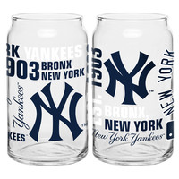 Boelter 16-Ounce Spirit Glass Can - MLB New York Yankees