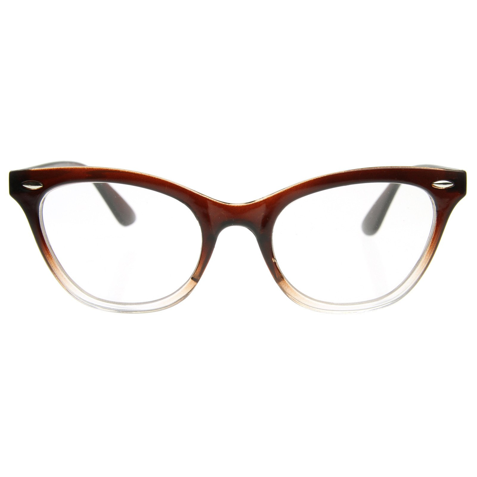 Image of Retro 1950's RX Cat Eye Clear Lens Glasses 8532