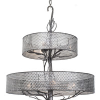 Treefold Nine Light Chandelier