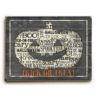 Happy Halloween Pumpkin by Artist Misty Diller Wood Sign