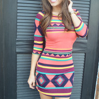 Nothing Left To Say Dress: Multi