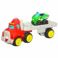 Tonka Chuck & Friends Red Car Carrier w/ATV