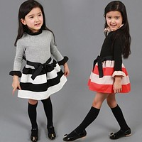 Girls Long-sleeve Dresses Kids Clothing For Holiday Party Wear Toddler Girl Children's Costume For Kids