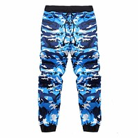 2017 Autumn Sweatpants Men Joggers Pant Casual Color Camo Cargo Pants Loose Mens Fashion Streetwear Men Track Pants Trousers