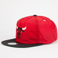 Mitchell & Ness Chicago Bulls Mens Zipback Hat Black/Red One Size For Men 25700512601