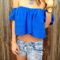 Sunny Days Off Shoulder Top - FINAL SALE