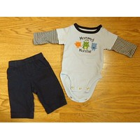 Carter's One Piece And Pants Boys Newborn Cotton Mommys Monster -- Used