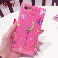 Beeci iMD Candy Cartoon girl Case for iPhone 6 Japanese cartoon Back Cover Shelll for iPhone 6 6s Plus Cases