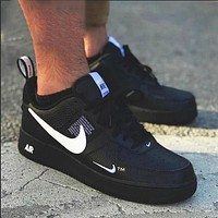 NIKE AIR FORCE 1'07 LOW trend men and women casual wild sports shoes Black