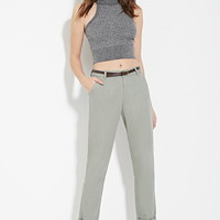 Belted Chino Trousers | Forever 21 - 2000181532