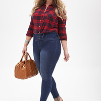 FOREVER 21 PLUS High-Rise - Skinny Jeans Denim