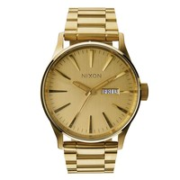 Men's Nixon The Sentry SS Watch In All Gold