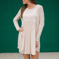 Classically Romantic Dress, Oatmeal