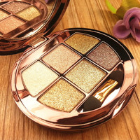 Portable Glitter Eyeshadow Naked Palette Colour Make Up Palette Waterproof Luminous Eye Cosmetics Tools