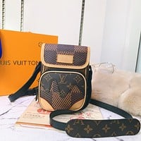 LV Louis Vuitton X NIGO MONOGRAM CANVAS AMAZONE INCLINED SHOULDER BAG