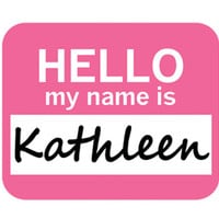 Kathleen Hello My Name Is Mouse Pad