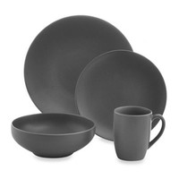 Gibson Home Paradiso 16-Piece Round Dinnerware Set in Grey