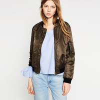 QUILTED BOMBER JACKET - BOMBERS-WOMAN | ZARA United States