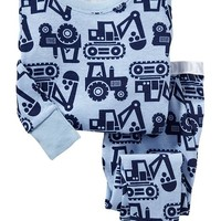 Truck-Print PJ Sets for Baby