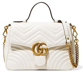 Gucci sells lady's double G fashion V-type leather mini-handbag 3#
