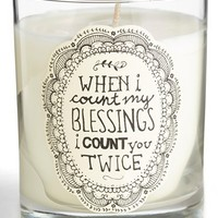 Natural Life 'Count My Blessings' Candle - White