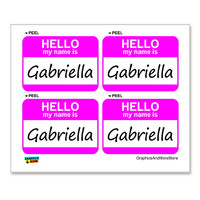 Gabriella Hello My Name Is - Sheet of 4 Stickers
