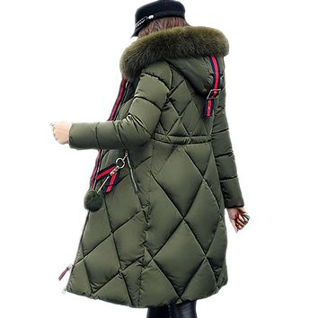 Thickened Stitched Cotton Winter Fur Coat