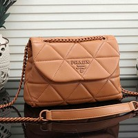 Prada Fashion Leather Crossbody Shoulder Bag Satchel
