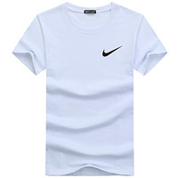 NIKE 2018 summer wild tide brand fashion round neck pullover short-sleeved T-shirt F-A000-PPNZ white