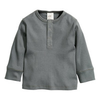 H&M Long-sleeved Henley Shirt $6.99