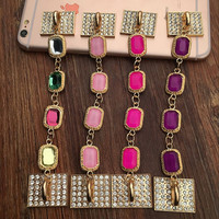 1pc Phone Case Crystal Chain Deco Kits Cabochons 4 colors