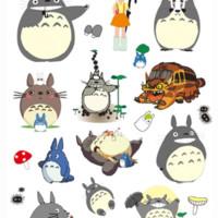 Waterproof A4 Sticker Sheet for Decoration (Totoro Style)