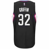 Blake Griffin Los Angeles Clippers NBA Adidas Black Official Climacool Alternate Swingman Jersey For Men (3XL)