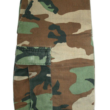Vintage Military Issue Camouflage Cargo Pants Mens Size W27 - W31