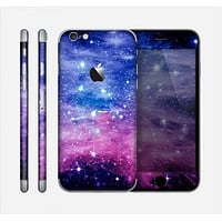 The Purple and Blue Scattered Stars Skin for the Apple iPhone 6