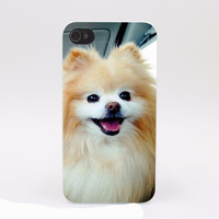 Cute Boo Pomeranian DOG Hard White Cover Case for iPhone