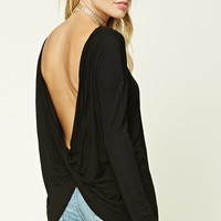 Contemporary Surplice-Back Top