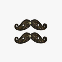 Shwings Lace Mustache Sparkle Black