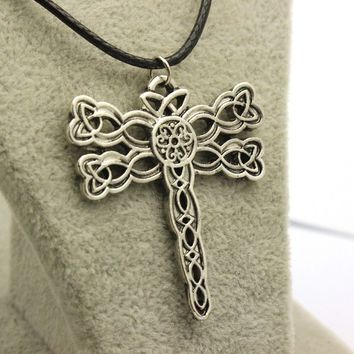 Game Of Thrones Dragonfly Rope Leather Necklace
