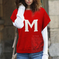 Red Knit Sweater Shirt