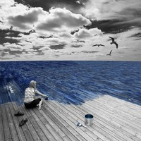 """Work At Sea"" - Art Print by Erik Johansson"